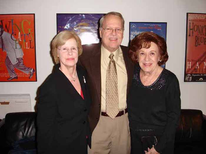 Pam & Charlie with Deborah Chessler, songwriter, manager and mentor of the Orioles, at the Rock & Roll Hall of Fame, 2009
