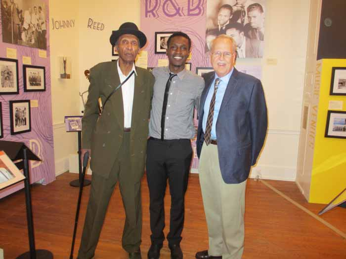 Sonny Til's son, Ricky and grandson, De'Sean with Charlie at our Freehold exhibit, 2015