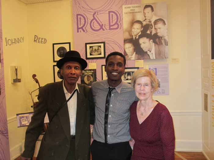 Sonny Til's son, Ricky and grandson, De'Sean with Pam at our Freehold exhibit, 2015