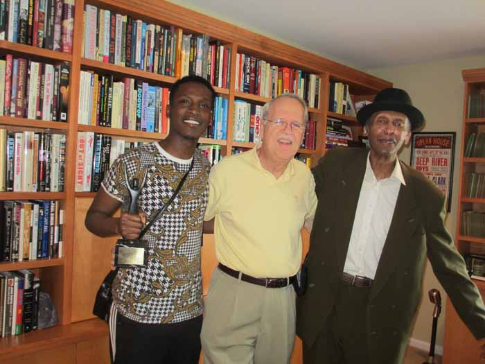 Sonny Til's grandson, De'Sean and son Ricky, with Charlie at CUH Headquarters, 2015