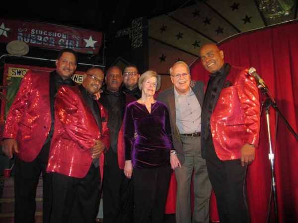 Quiet Storm (acappella group) with Pam & Charlie at Roxy & Dukes, Dunellen NJ, Feb 14, 2016