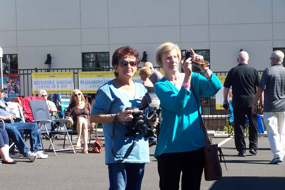 Photographers Candyce Holmstrup and Pam Horner.  Photo by Matty G.