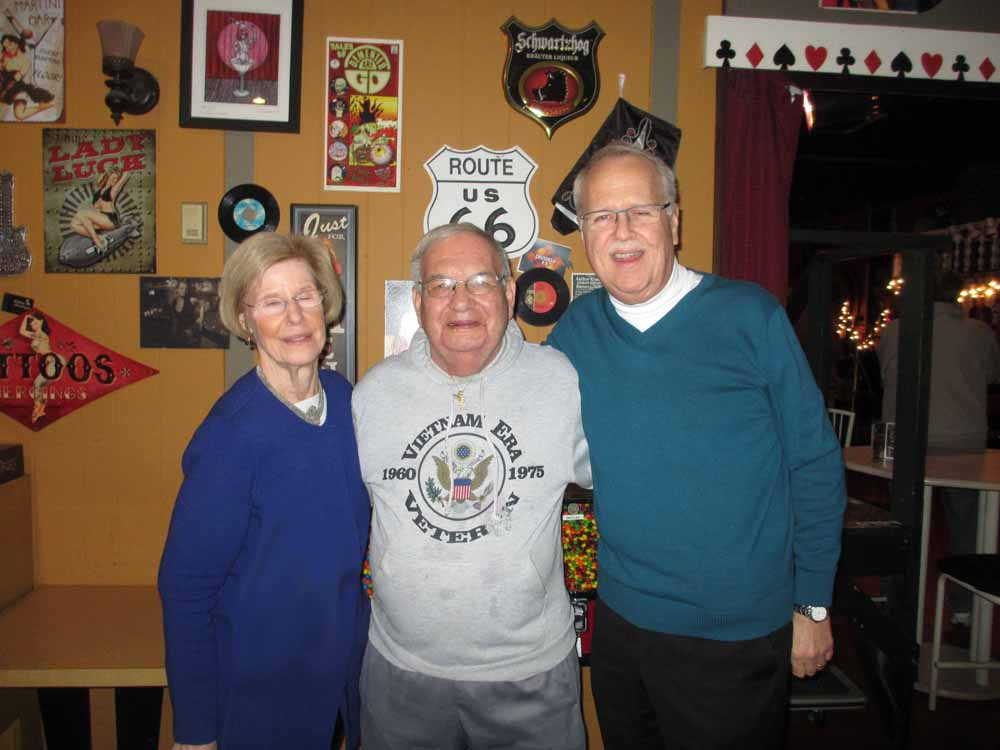 Pam & Charlie with Eddie Natale of the South Philly String Band Club