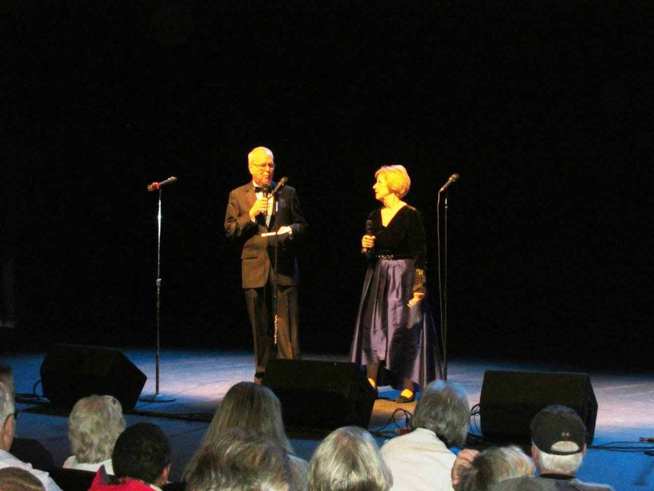 Pam & Charlie, emcees.  Photo by JB.