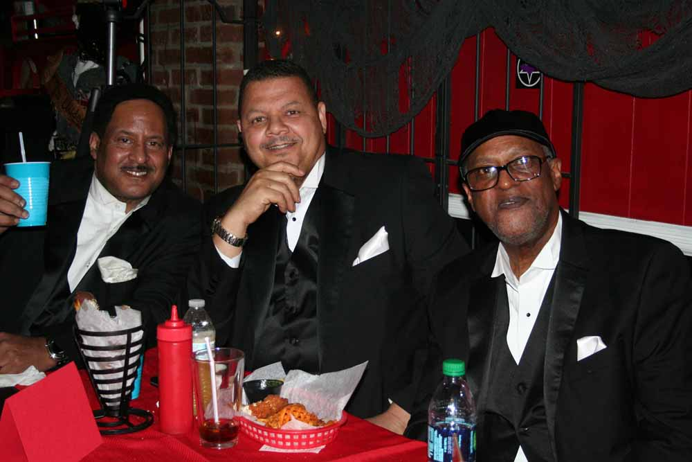 Quiet Storm at the singers table.  Photo by Marian Cicerale.