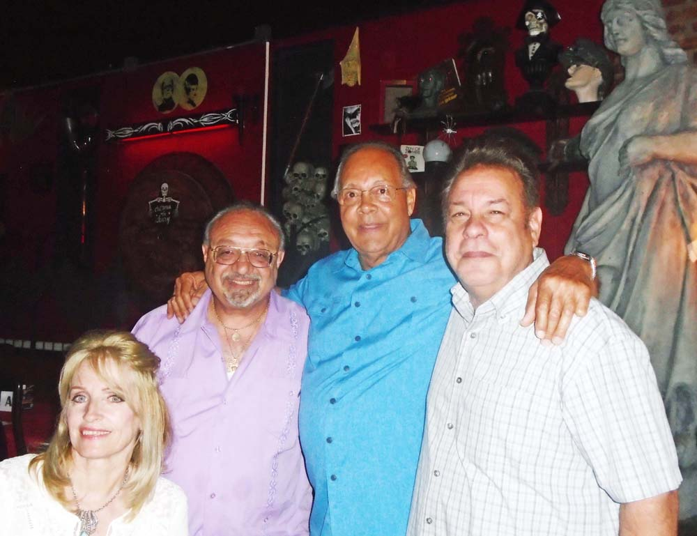 Joan and Joel Katz with Frank Cicerale (Re-MemberThen) and Danny Ugarte (Cameos, Plazas).  Photo by Marian Cicerale.