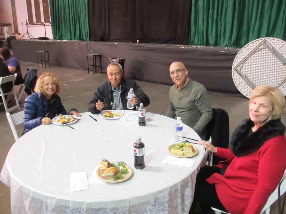 Lunch with Re-MemberThen.  Helene & Marty Geliebter, Sal Contrino, Pam Horner