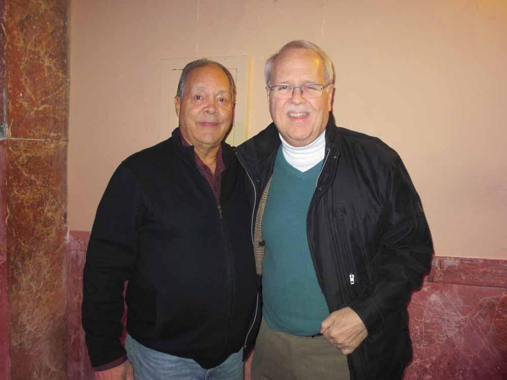 Charlie with Danny Ugarte of the cameos.  The cameos backed Frank Pizarro