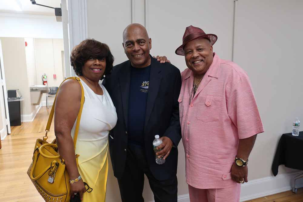 Smitty (Quiet Storm) with Ali & Allyson Hackett at the reception.